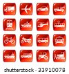Transportation icons buttons set 4. Raster version of vector image #28615549 - stock photo