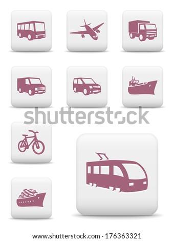 Transportation icons. Raster version of EPS image 120806023 - stock photo