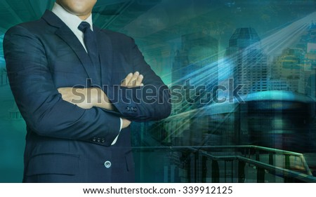 transportation logistics business technology globalization concept - stock photo