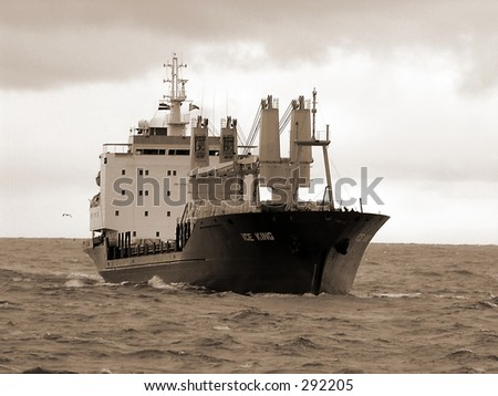 Transportation  (photo of tanker ship near  ventspils port in baltic sea)
