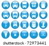 Transportation set of different web icons - stock vector