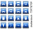 Transportation set of different web icons - stock photo