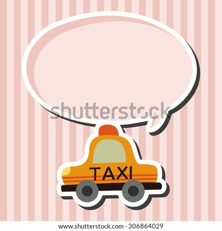 Transportation taxi icon cartoon speech icon - stock photo