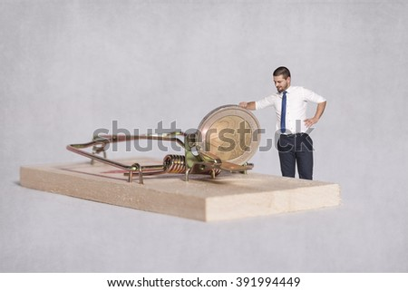 trap for the greedy businessman - stock photo