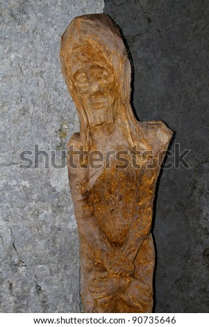 trapped in suffering - stock photo