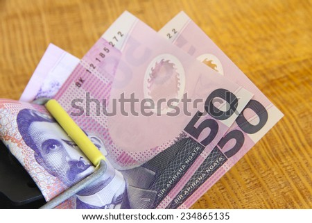 Trapped New Zealand Dollars - stock photo