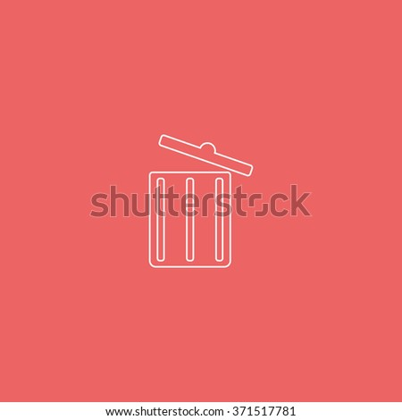 Trash bin icon. - stock photo