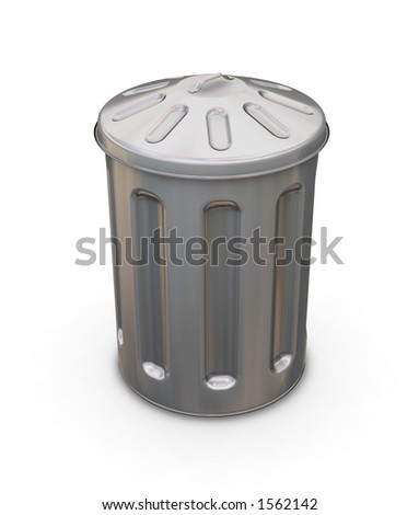Trash can - 3D render