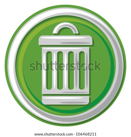 trash can icon (trash, trashcan button, trash can symbol) - stock photo