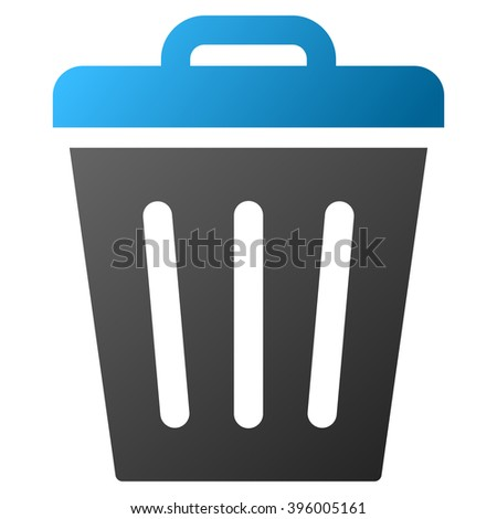 Trash Can raster toolbar icon for software design. Style is gradient icon symbol on a white background. - stock photo