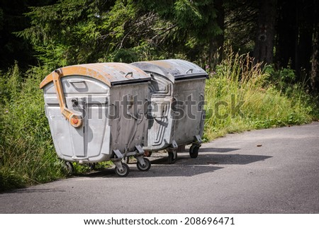 trash dumpsters - stock photo