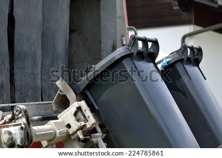 Trash is emptied - stock photo