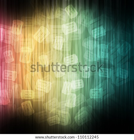Trash on color wave abstract background