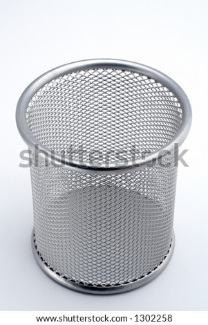 Trash on white background - stock photo