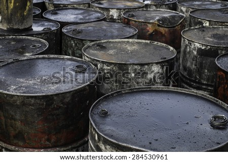Trash polluting effect on the environment. - stock photo