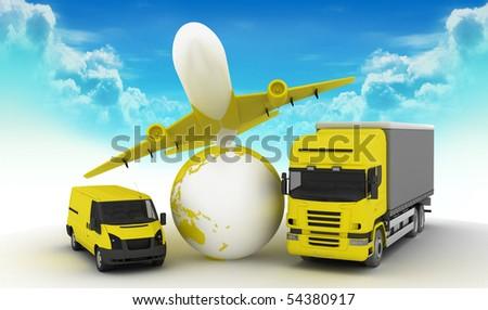 trasport agency - stock photo