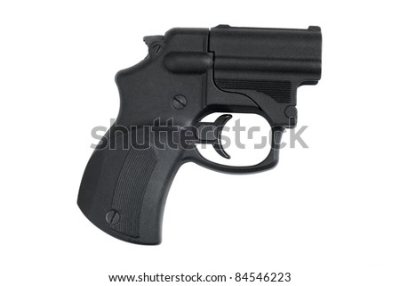 Traumatic pistol isolated on a white background - stock photo