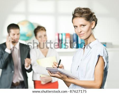 travel agent office - stock photo