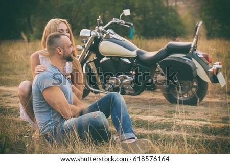 travel love passion bike road couple stock photo edit now