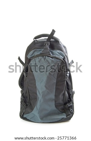 travel back pack isolated on white