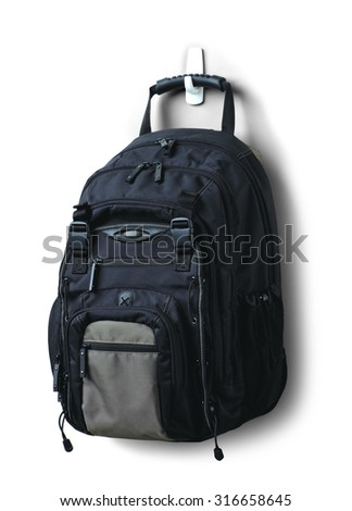 Travel backpack - stock photo