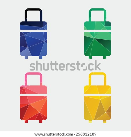 travel bag icon Abstract Triangle Geometrical background