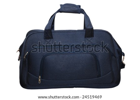 travel bag isolated over white - stock photo