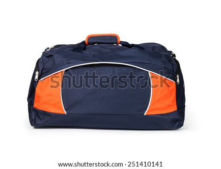 travel bag on a white background - stock photo