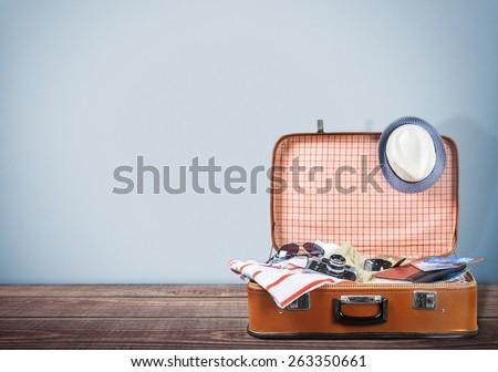 Travel, bag, tourist. - stock photo