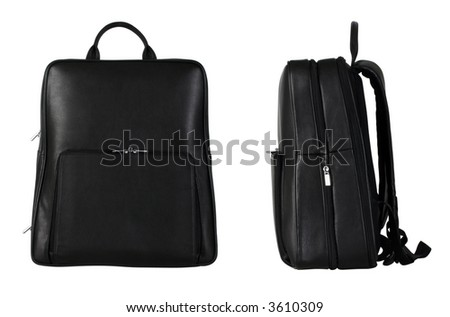 Travel bags from side and front view