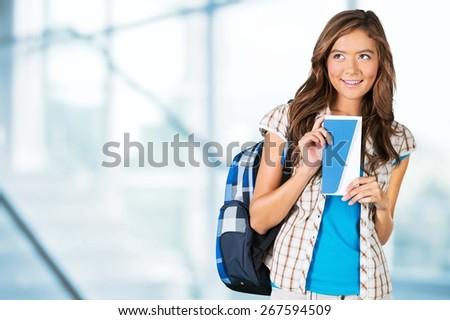 Travel, business, woman. - stock photo