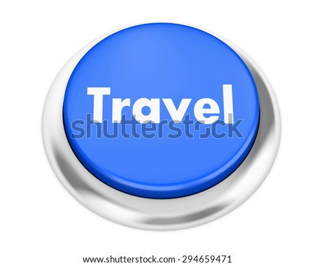 travel button on isolate white background