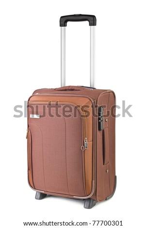 Travel case isolated on white background - stock photo