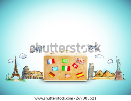 travel concept with place for your text - stock photo