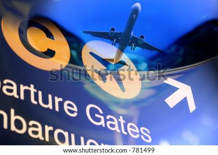 Travel Design Background - stock photo