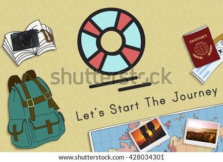 Travel Destination Excursion Concept - stock photo