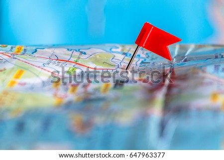 travel destination pin points on map stock photo royalty free