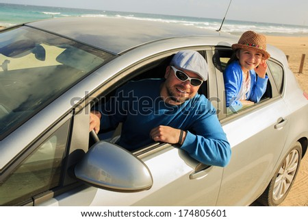 Travel, family - Fuerteventura, in the Canary Islands, Spain - stock photo