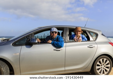 Travel, family on summer vacation. Traveling concept - stock photo
