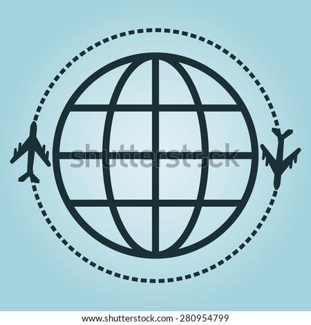 travel graphic design - stock photo