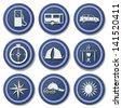 Travel Icons.Set 2 - stock photo