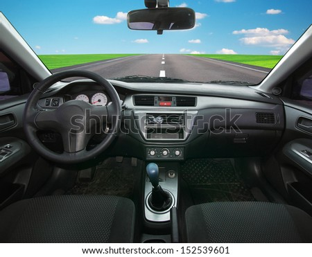 Travel in car. Element of design. - stock photo