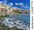 travel in Greek islands series - Syros - stock photo