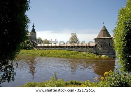 Travel in Russia. Pskov Kremlin (Krom) - stock photo