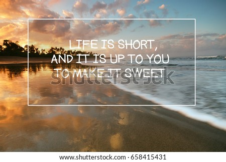 travel inspirational quotes life short you stock photo edit now 658415431 shutterstock. Black Bedroom Furniture Sets. Home Design Ideas