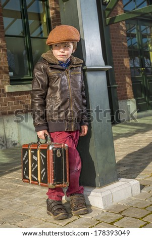 travel kid - stock photo