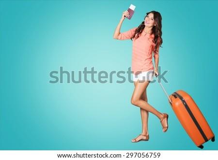 Travel, Luggage, Suitcase. - stock photo