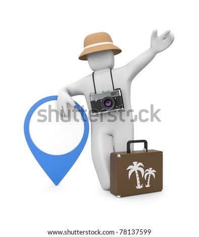 Travel metaphor. Image contain clipping path