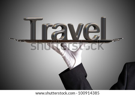 travel on elegant grey backround
