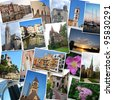 Travel photographs collage - stock photo